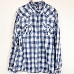 Helix | Western Style Flannel Button Down Shirt